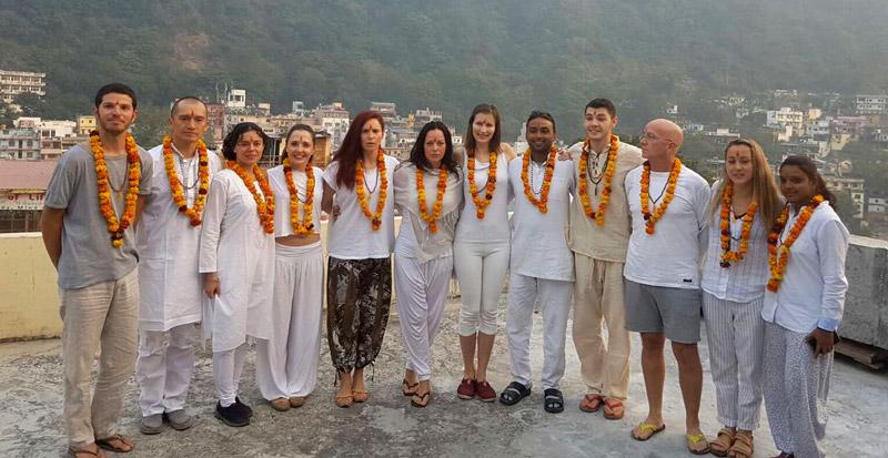 Atri Yoga Teacher Training graduation: Itamar, Sam, Erika, Cristina, Silviya, Terri, Yulya, Harish, Jamie, Andrew, Mégane and Deepa